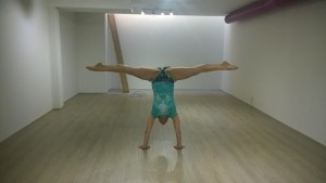 first handstand at flying yogis